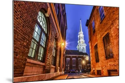 The North Church as Seen from Market Square, Portsmouth, New Hampshire-Jerry & Marcy Monkman-Mounted Photographic Print