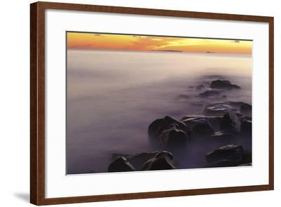 Dawn at Wallis Sands State Park in Rye, New Hampshire-Jerry & Marcy Monkman-Framed Photographic Print