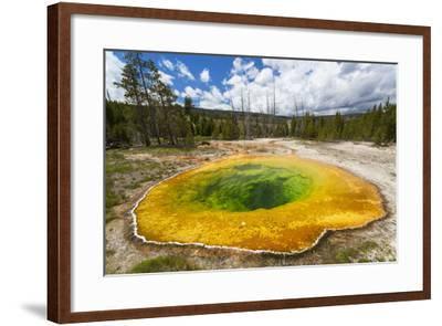 Morning Glory Pool, Yellowstone National Park, Wyoming, USA-Peter Adams-Framed Photographic Print