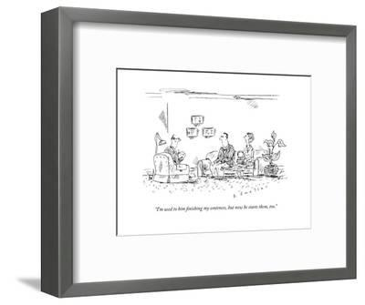 A couple speaks to a therapist.  - New Yorker Cartoon-Barbara Smaller-Framed Premium Giclee Print