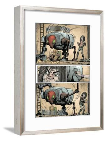Zombies vs. Robots: Volume 1 - Comic Page with Panels-Val Mayerik-Framed Art Print