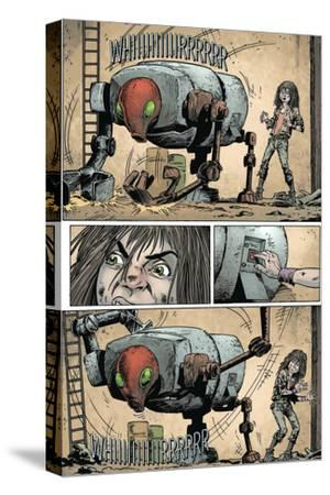 Zombies vs. Robots: Volume 1 - Comic Page with Panels-Val Mayerik-Stretched Canvas Print