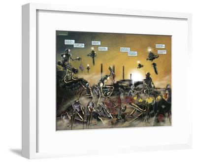 Zombies vs. Robots: No. 7 - Page Spread-Valentin Ramon-Framed Art Print