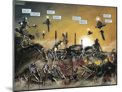 Zombies vs. Robots: No. 7 - Page Spread-Valentin Ramon-Mounted Art Print