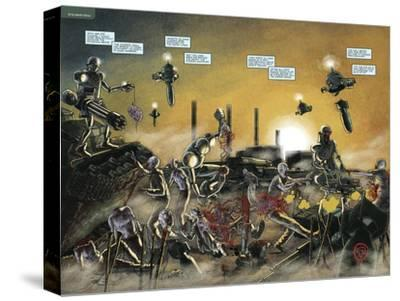 Zombies vs. Robots: No. 7 - Page Spread-Valentin Ramon-Stretched Canvas Print