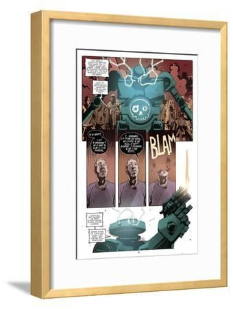 Zombies vs. Robots: No. 10 - Comic Page with Panels-Antonio Fuso-Framed Art Print