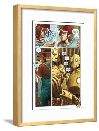 Zombies vs. Robots - Comic Page with Panels-Paul McCaffrey-Framed Art Print