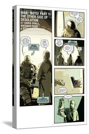 Zombies vs. Robots: No. 8 - Comic Page with Panels-Antonio Fuso-Stretched Canvas Print