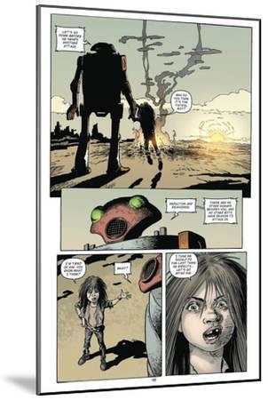 Zombies vs. Robots: Volume 1 - Comic Page with Panels-Val Mayerik-Mounted Art Print