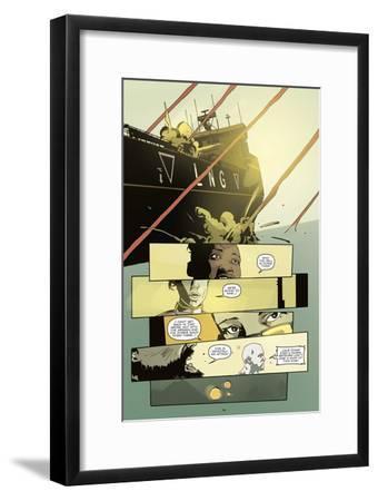 Zombies vs. Robots: No. 8 - Comic Page with Panels-Antonio Fuso-Framed Art Print