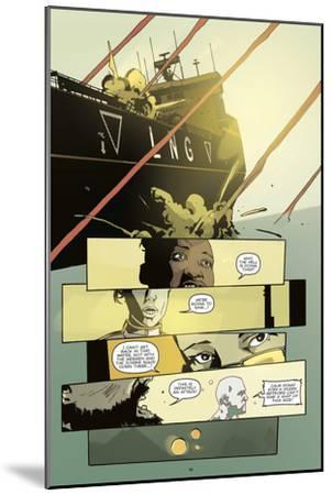 Zombies vs. Robots: No. 8 - Comic Page with Panels-Antonio Fuso-Mounted Art Print