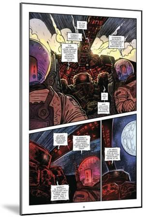 Zombies vs. Robots: Volume 1 - Comic Page with Panels-Anthony Diecidue-Mounted Art Print