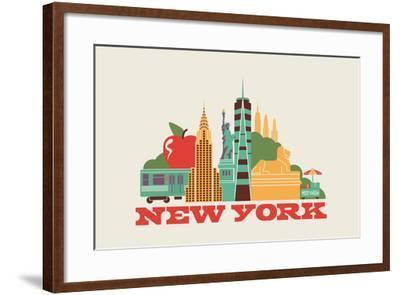 City Living New York Natural--Framed Art Print