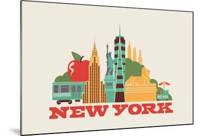 City Living New York Natural--Mounted Art Print