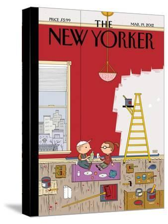 Warmth - The New Yorker Cover, March 19, 2012-Ivan Brunetti-Stretched Canvas Print