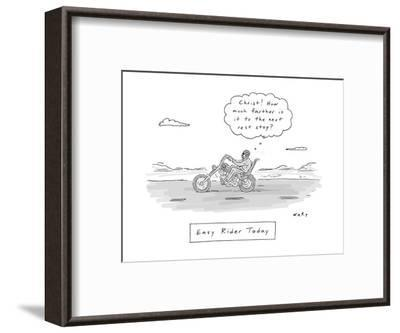 """""""Christ! How much further is it to the next rest stop!?!"""" - New Yorker Cartoon-Kim Warp-Framed Premium Giclee Print"""