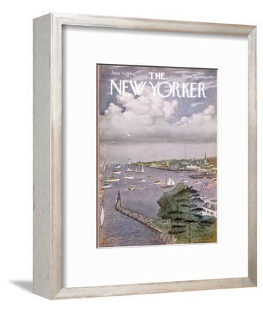 The New Yorker Cover - June 13, 1964-Albert Hubbell-Framed Premium Giclee Print