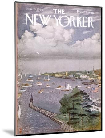 The New Yorker Cover - June 13, 1964-Albert Hubbell-Mounted Premium Giclee Print