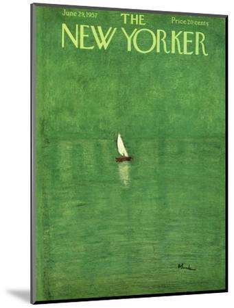 The New Yorker Cover - June 29, 1957-Abe Birnbaum-Mounted Premium Giclee Print