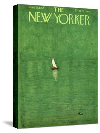 The New Yorker Cover - June 29, 1957-Abe Birnbaum-Stretched Canvas Print