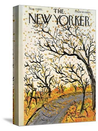 The New Yorker Cover - November 7, 1970-Abe Birnbaum-Stretched Canvas Print