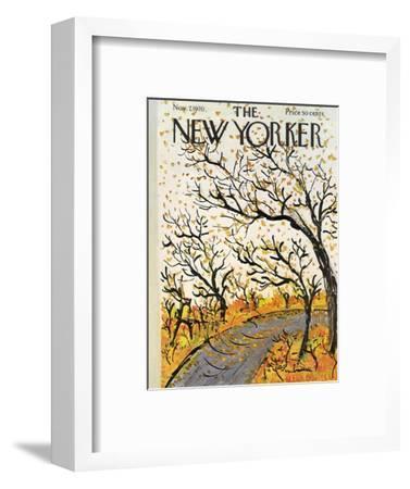 The New Yorker Cover - November 7, 1970-Abe Birnbaum-Framed Premium Giclee Print