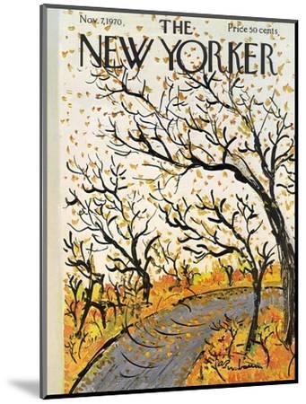 The New Yorker Cover - November 7, 1970-Abe Birnbaum-Mounted Premium Giclee Print