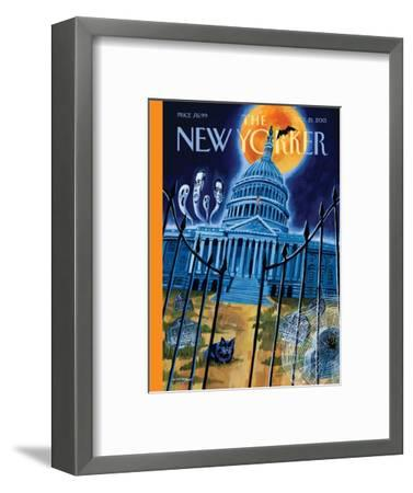 Haunted House - The New Yorker Cover, October 21, 2013-Mark Ulriksen-Framed Premium Giclee Print