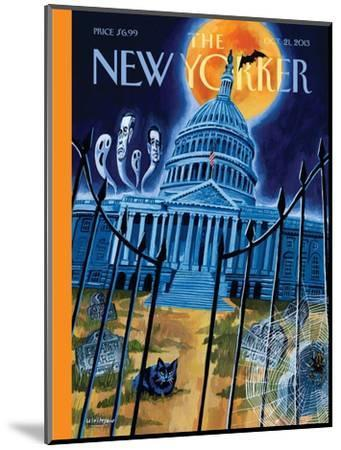 Haunted House - The New Yorker Cover, October 21, 2013-Mark Ulriksen-Mounted Premium Giclee Print