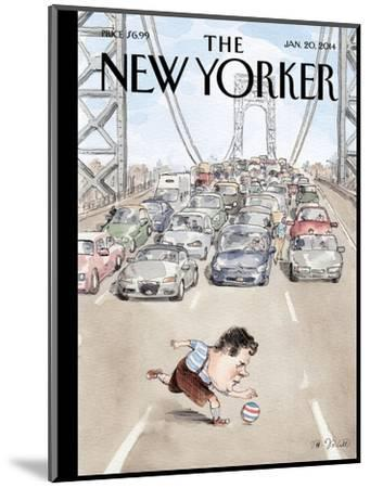 Playing in Traffic - The New Yorker Cover, January 20, 2014-Barry Blitt-Mounted Premium Giclee Print