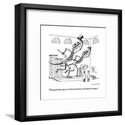 """This particular species is believed to have travelled in troupes.""-Joe Dator-Framed Premium Giclee Print"