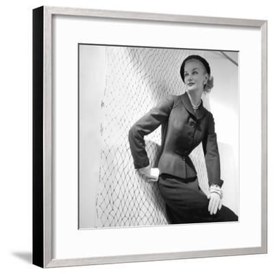 Model, Sunny Harnett--Framed Premium Photographic Print