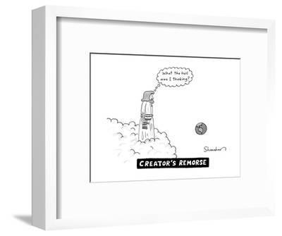 Creator's Remorse - New Yorker Cartoon--Framed Premium Giclee Print