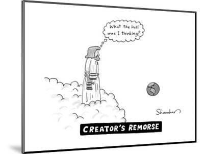 Creator's Remorse - New Yorker Cartoon--Mounted Premium Giclee Print