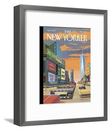 The New Yorker Cover - February 2, 2015--Framed Premium Giclee Print