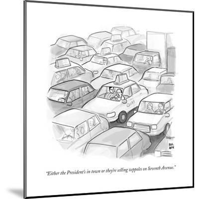 """""""Either the President's in town or they're selling zeppoles on Seventh Ave?"""" - New Yorker Cartoon--Mounted Premium Giclee Print"""