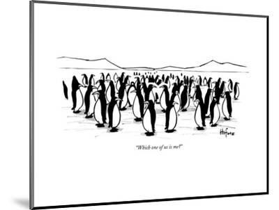 """""""Which one of us is me?"""" - New Yorker Cartoon--Mounted Premium Giclee Print"""