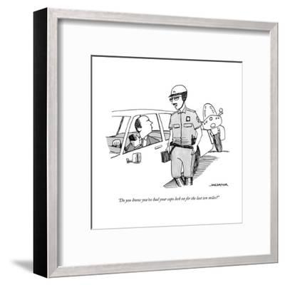 """""""Do you know you've had your caps lock on for the last ten miles?"""" - New Yorker Cartoon-Joe Dator-Framed Premium Giclee Print"""