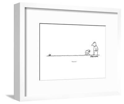 """Good arm."" - New Yorker Cartoon--Framed Premium Giclee Print"
