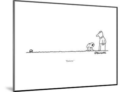 """Good arm."" - New Yorker Cartoon--Mounted Premium Giclee Print"