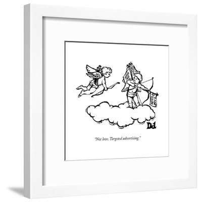 """Not love. Targeted advertising."" - New Yorker Cartoon--Framed Premium Giclee Print"