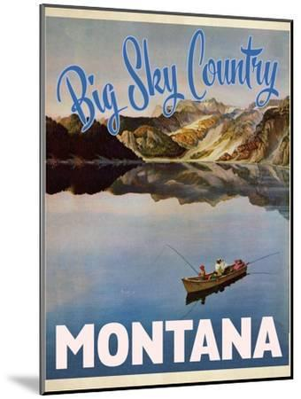 Big Sky Country--Mounted Premium Giclee Print