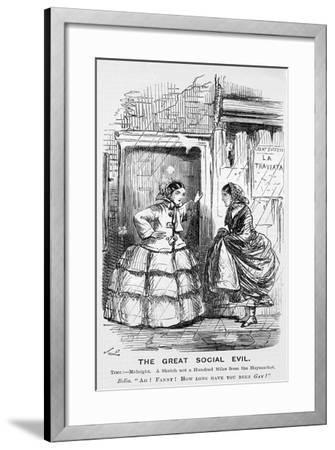 The Great Social Evil, Punch, 12 September 1857117-John Leech-Framed Giclee Print