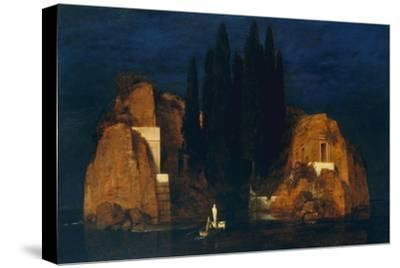 Isle of the Dead, second version, 1880-Arnold Bocklin-Stretched Canvas Print