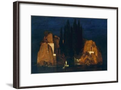Isle of the Dead, second version, 1880-Arnold Bocklin-Framed Giclee Print