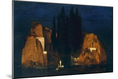 Isle of the Dead, second version, 1880-Arnold Bocklin-Mounted Giclee Print