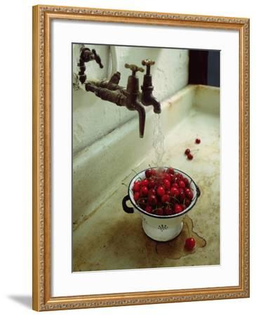 Washing cherries, 1988-Norman Hollands-Framed Giclee Print
