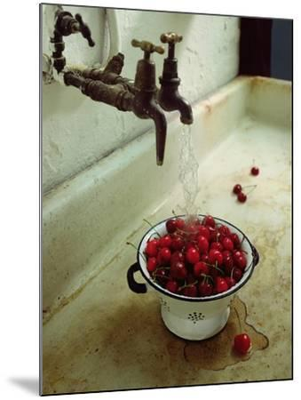 Washing cherries, 1988-Norman Hollands-Mounted Giclee Print
