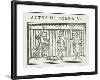 Act IV Scene VI of 'Andria' by Terence--Framed Giclee Print