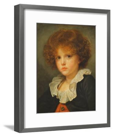 Boy in a Red Waistcoat, c.1775-80-Jean Baptiste Greuze-Framed Giclee Print